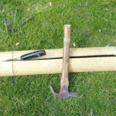 Bamboe is erg sterk, maar splijt gemakkelijk.