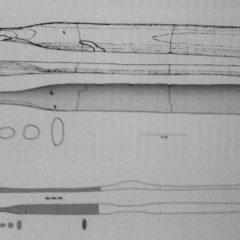 Tekening van de originele prehistorische vondst.