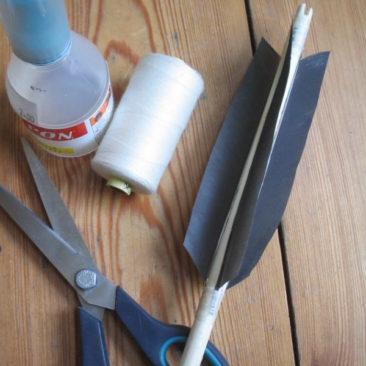 Pijlen met zwanen- of ganzenveren