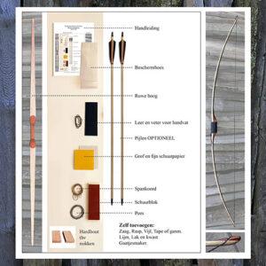 Doe-het-zelf Pakket Houten Boog 190cm (Volwassen)